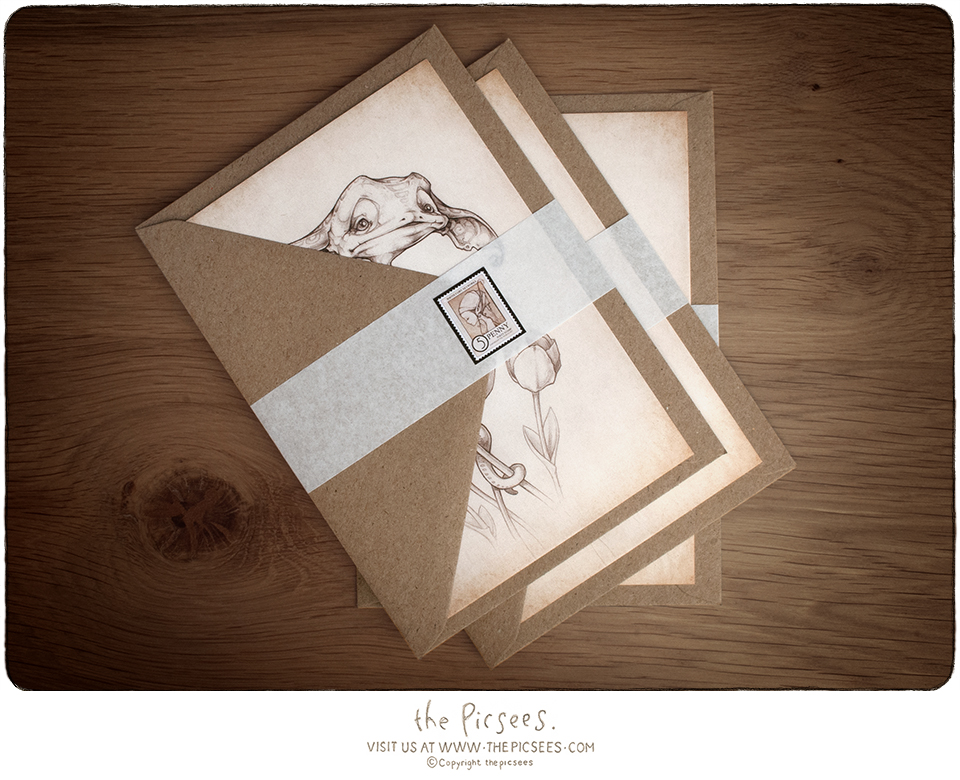 your card/s includes a lovely craft paper envelope