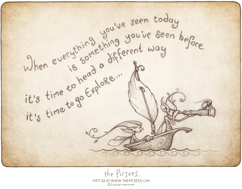 Time To Explore - a picture-poem by the Picsees
