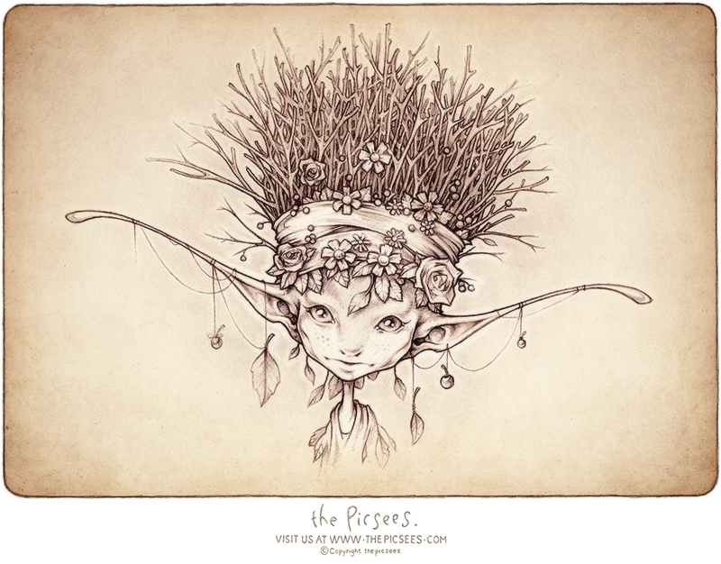 A Wee Winterqueen - a portrait by the Picsees